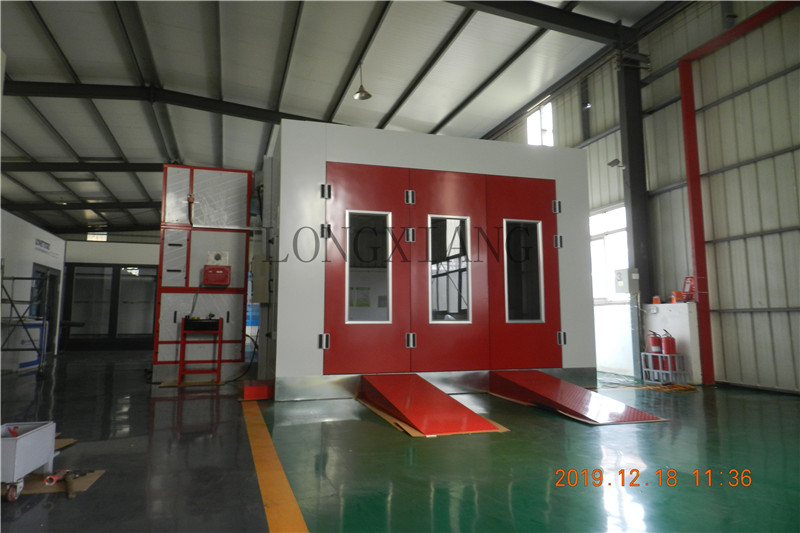 New installation red style spray booth ,do you like it ?