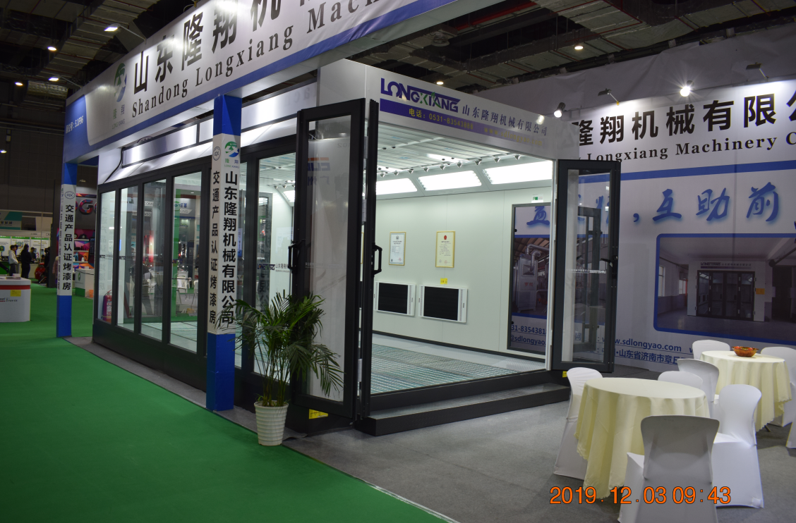 Longxiang Spray booth amazing showing in 2019 Shanghai Automechanika Exhibition