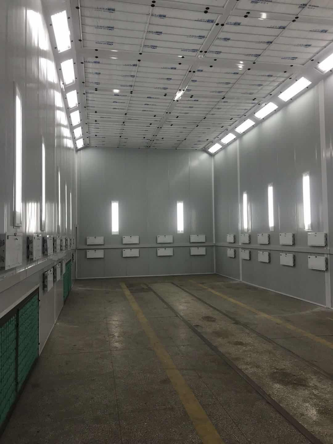 15m bus paint booth installation finished successfully !