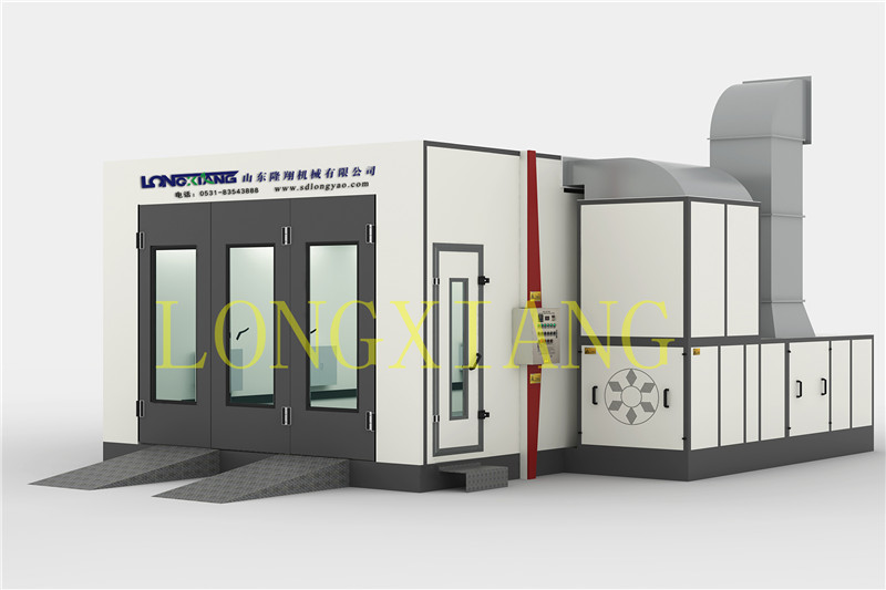 Longxiang Spray booth application & principle for painting and baking function